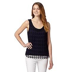 Principles by Ben de Lisi - Designer navy lace front vest
