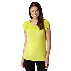 Principles by Ben de Lisi - Designer lime lace trim top