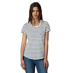 Principles by Ben de Lisi - Designer navy striped zip pocket top