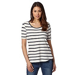 Principles by Ben de Lisi - Designer navy striped burnout t-shirt