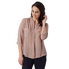Principles by Ben de Lisi - Designer pale pink tile print shirt