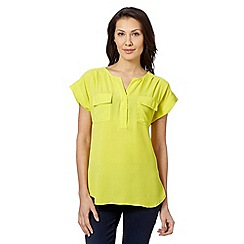 Principles by Ben de Lisi - Designer lime utility shirt