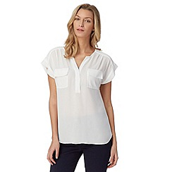 Principles by Ben de Lisi - Designer white plain crepe shirt