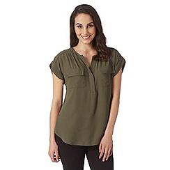 Principles by Ben de Lisi - Designer khaki plain crepe shirt