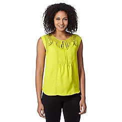 Principles by Ben de Lisi - Designer lime crochet detail top