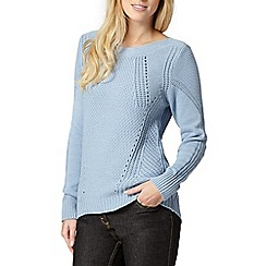 Principles Petite by Ben de Lisi - Petite designer light blue chunky knit jumper