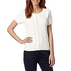 Principles by Ben de Lisi - Designer white chevron knot sweater