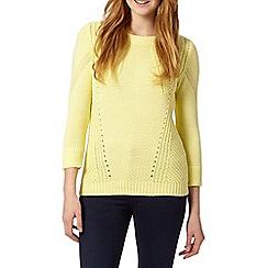 Principles by Ben de Lisi - Designer yellow chunky knit jumper