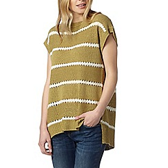 Principles by Ben de Lisi - Designer khaki striped split back jumper