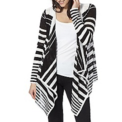 Principles by Ben de Lisi - Designer black striped waterfall cardigan