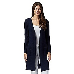 Principles by Ben de Lisi - Designer navy cable chunky cardigan