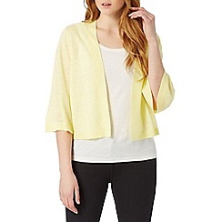 Principles by Ben de Lisi - Designer light yellow ladder back kimono cardigan