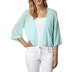 Principles by Ben de Lisi - Designer pale green ladder back kimono cardigan