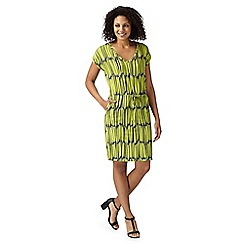 Principles by Ben de Lisi - Designer lime linear jersey dress