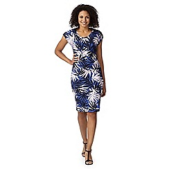 Principles by Ben de Lisi - Designer blue tropical print dress
