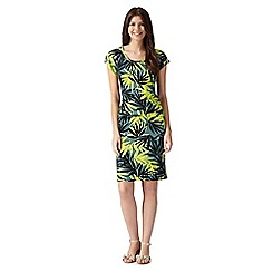 Principles by Ben de Lisi - Designer khaki tropical leaf print dress