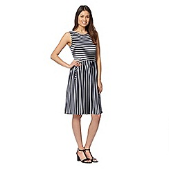Principles by Ben de Lisi - Designer navy striped jersey dress