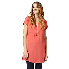 Principles by Ben de Lisi - Designer peach pocket front tunic
