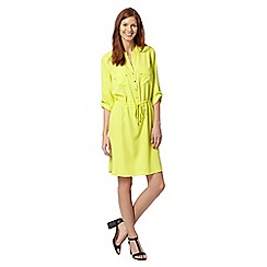 Principles by Ben de Lisi - Designer lime pocket shirt dress