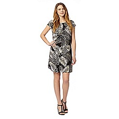 Principles by Ben de Lisi - Designer black palm leaf print dress