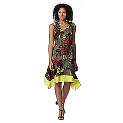 Principles by Ben de Lisi - Designer khaki tribal floral dress
