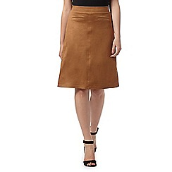 Principles by Ben de Lisi - Designer tan suedette flared skirt