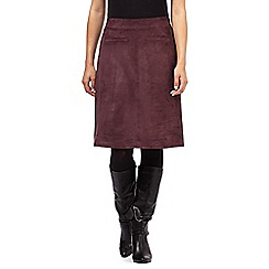 Principles by Ben de Lisi - Dark purple suedette pocket skirt