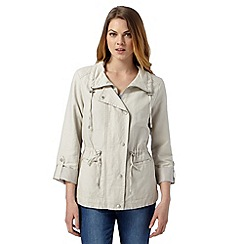 Principles by Ben de Lisi - Designer natural drawstring casual jacket
