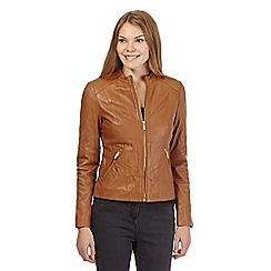 Principles by Ben de Lisi - Tan leather jacket