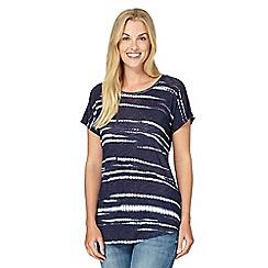 Principles by Ben de Lisi - Designer navy batik jersey t-shirt