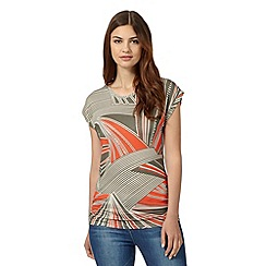 Principles by Ben de Lisi - Designer orange aztec inspired jersey top