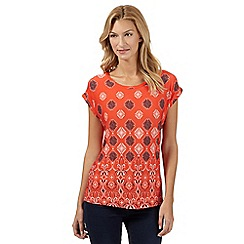 Principles by Ben de Lisi - Designer orange diamond gypsy top