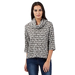 Principles by Ben de Lisi - Grey cowl neck top
