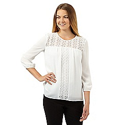 Principles by Ben de Lisi - Designer white lace panel top