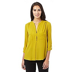 Principles by Ben de Lisi - Lime utility blouse
