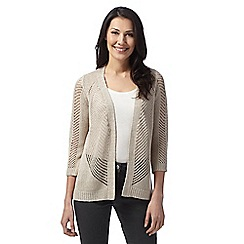 Principles by Ben de Lisi - Designer natural open knit cardigan