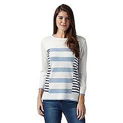 Principles by Ben de Lisi - Designer light blue multi striped jumper