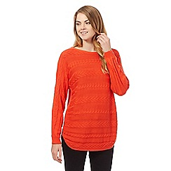 Principles by Ben de Lisi - Orange batwing jumper
