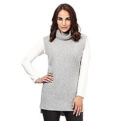 Principles by Ben de Lisi - Designer dark grey roll neck sleeveless jumper
