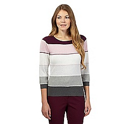 Principles by Ben de Lisi - Purple ombre striped jumper