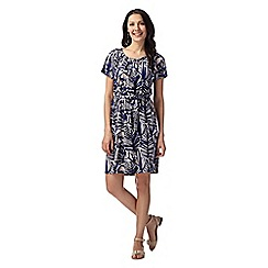 Principles by Ben de Lisi - Designer blue leaf print jersey dress