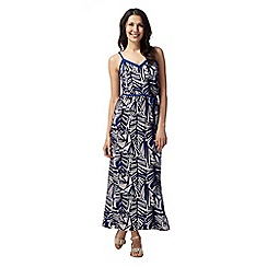 Principles by Ben de Lisi - Designer blue leaf print maxi dress