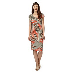 Principles by Ben de Lisi - Designer orange aztec inspired jersey dress