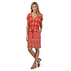 Principles by Ben de Lisi - Designer orange diamond gypsy dress