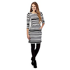 Principles by Ben de Lisi - Ivory striped crepe tunic dress