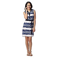 Principles by Ben de Lisi - Designer blue geometric ikat dress