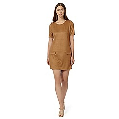 Principles by Ben de Lisi - Designer tan suedette tunic dress