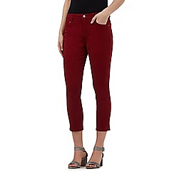 Principles by Ben de Lisi - Dark red cropped jeans