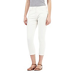 Principles by Ben de Lisi - Ivory cropped jeans