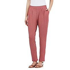 Principles by Ben de Lisi - Red dotted print jersey trousers